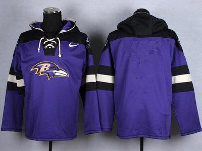 Custom Nike Ravens Purple Player Pullover NFL Hoodie (Any Name&Number)