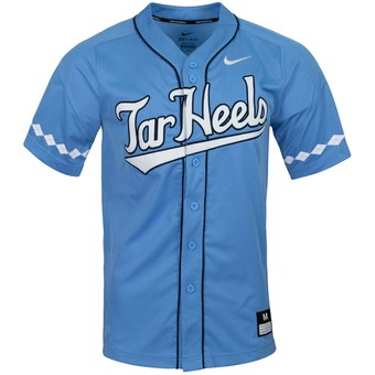 Custom North Carolina Tar Heels Royal College Baseball Jersey
