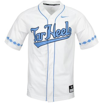 Custom North Carolina Tar Heels White College Baseball Jersey