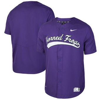 Custom TCU Horned Frogs Purple Vapor College Baseball Jersey