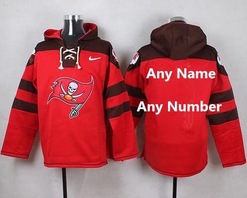 Customized Nike Buccaneers Red Player Pullover NFL hoodie (Any Name&Number)