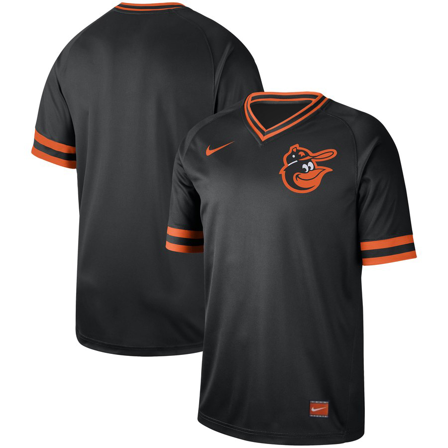 Customized Orioles Blank Black Throwback Jersey