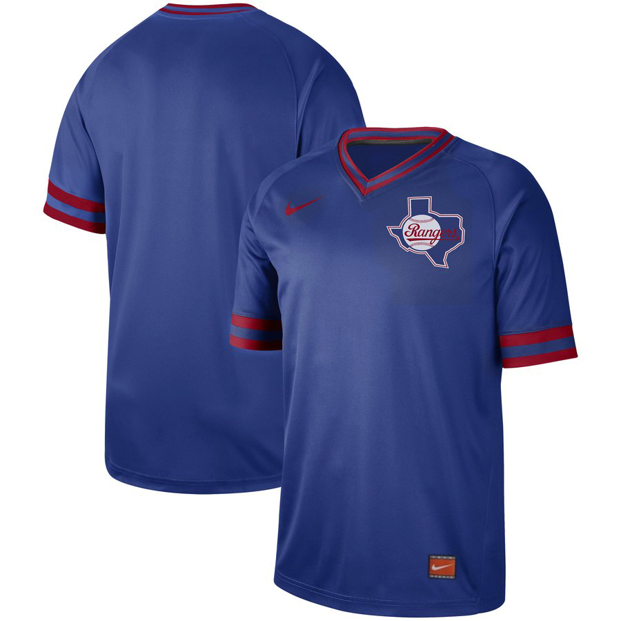Customized Rangers Blank Blue Throwback Jersey