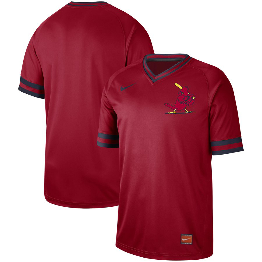 Customized St. Louis Cardinals Blank Red Throwback Jersey