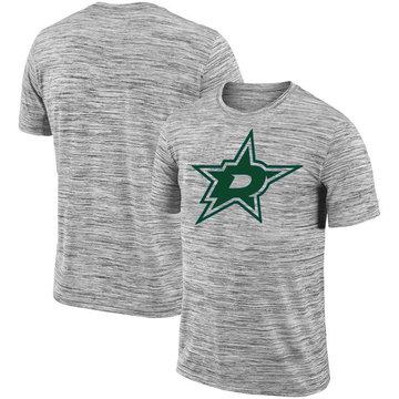 Dallas Stars 2018 Heathered Black Sideline Legend Velocity Travel Performance T-Shirt