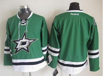 Dallas Stars Blank Green Home Stitched NHL Jersey Size L