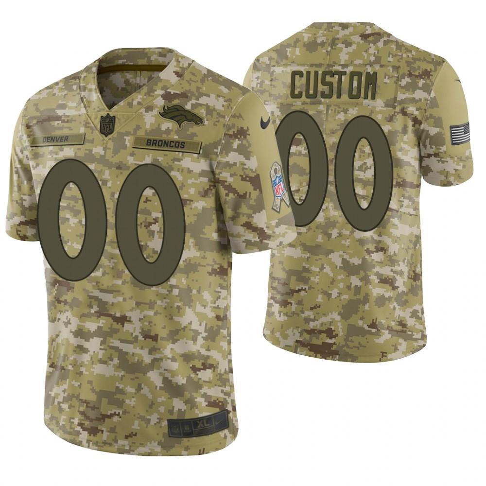 Denver Broncos Custom Camo 2018 Salute to Service Limited Jersey