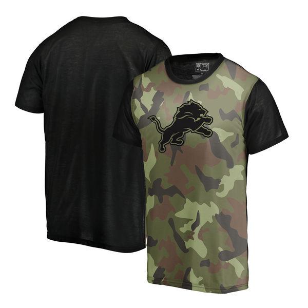 Detroit Lions Camo NFL Pro Line By Fanatics Branded Blast Sublimated T Shirt