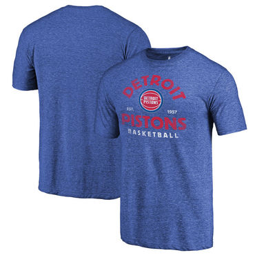 Detroit Pistons Fanatics Branded Royal Vintage Arch Tri-Blend T-Shirt