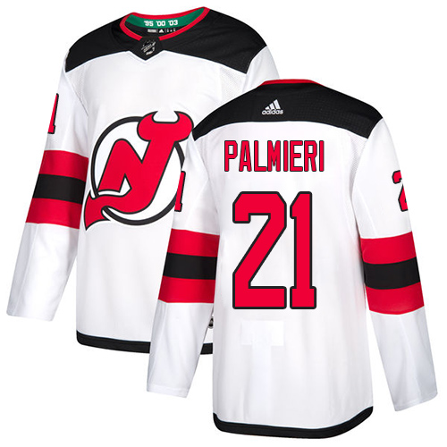 Devils #21 Kyle Palmieri White Road Authentic Stitched Hockey Jersey