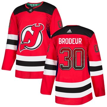 Devils 30 Martin Brodeur Red Drift Fashion Adidas Jersey