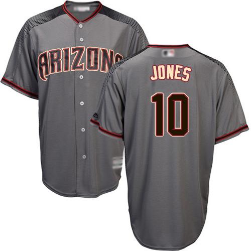 Diamondbacks #10 Adam Jones Gray Road Stitched Youth Baseball Jersey