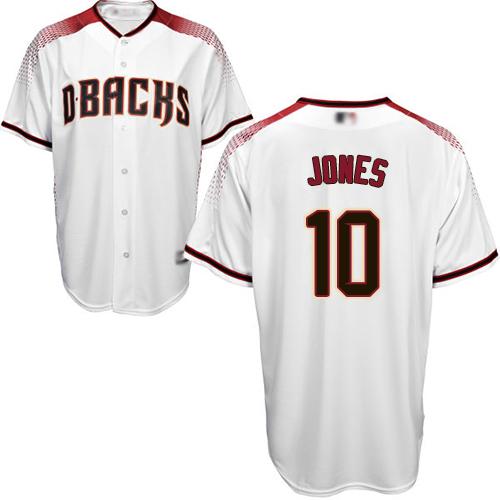 Diamondbacks #10 Adam Jones White Crimson Home Stitched Youth Baseball Jersey
