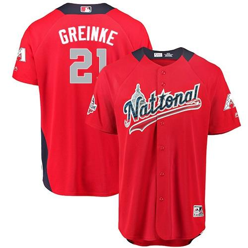 Diamondbacks #21 Zack Greinke Red 2018 All-Star National League Stitched Baseball Jersey