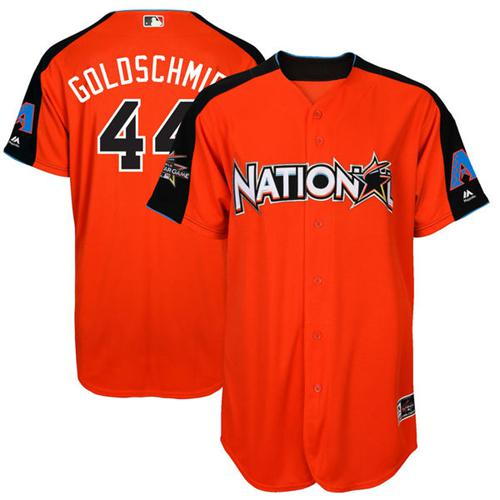 Diamondbacks #44 Paul Goldschmidt Orange 2017 All-Star National League Stitched MLB Jersey