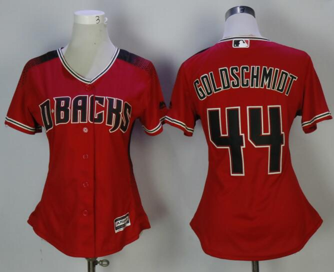 Diamondbacks 44 Paul Goldschmidt Red Sedona Women Cool Base Jersey