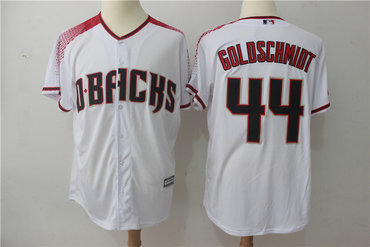 Diamondbacks 44 Paul Goldschmidt White Brick Cool Base Jersey