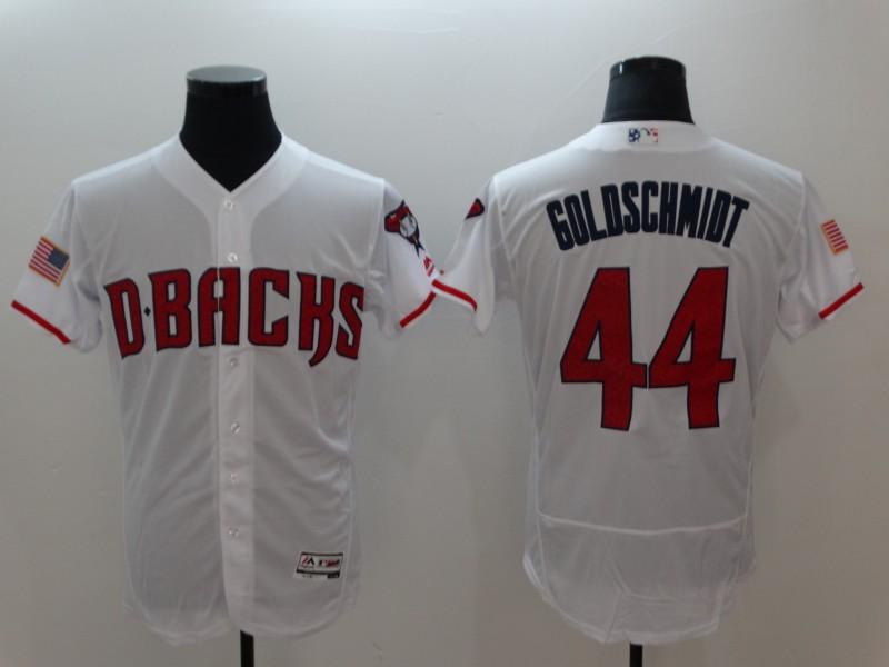 Diamondbacks 44 Paul Goldschmidt White Flexbase Jersey