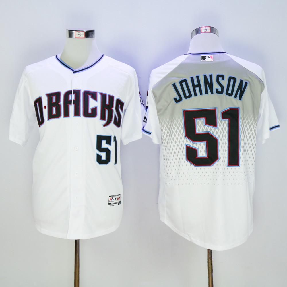 Diamondbacks 51 Randy Johnson White Teal Flexbase Jersey