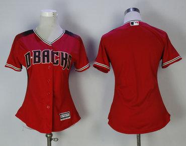 Diamondbacks Blank Red Sedona Women Cool Base Jersey