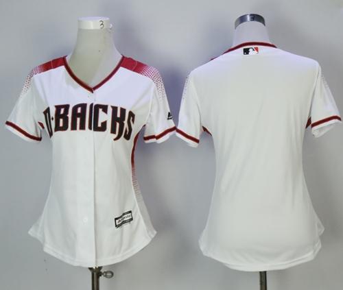 Diamondbacks Blank White Sedona Home Women's Stitched MLB Jersey