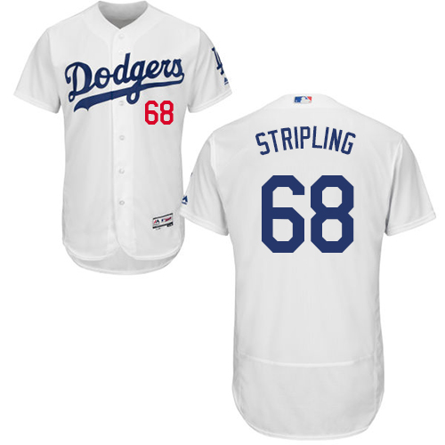Dodgers #68 Ross Stripling White Flexbase Authentic Collection Stitched Baseball Jersey