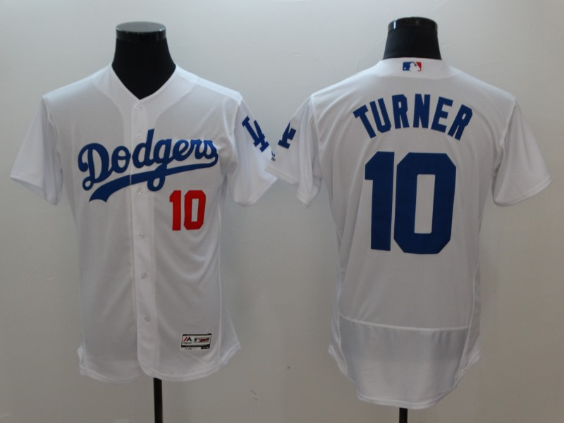 Dodgers 10 Justin Turner White Flexbase Jersey
