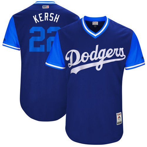 Dodgers 22 Clayton Kershaw Kersh Majestic Navy 2017 Players Weekend Jersey