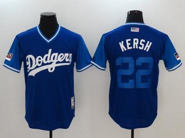 Dodgers 22 Clayton Kershaw Kersh Royal 2018 Players' Weekend Authentic Team Jersey