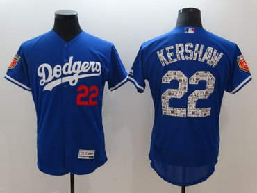 Dodgers 22 Clayton Kershaw Royal 2018 Spring Training Flexbase Jersey