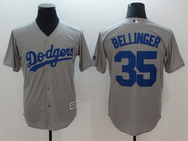 Dodgers 35 Cody Bellinger Gray Cool Base Jersey