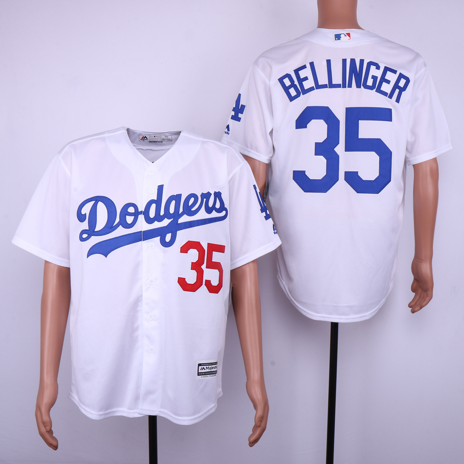 Dodgers 35 Cody Bellinger White Cool Base Jersey