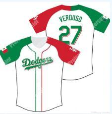 Dodgers Mexican #27 Alex Verdugo Baseball Jersey