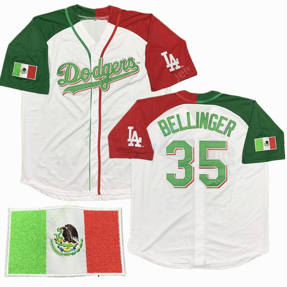 Dodgers Mexican #35 Cody Bellinger Baseball  Jersey