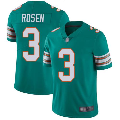 Dolphins #3 Josh Rosen Aqua Green Alternate Youth Stitched Football Vapor Untouchable Limited Jersey
