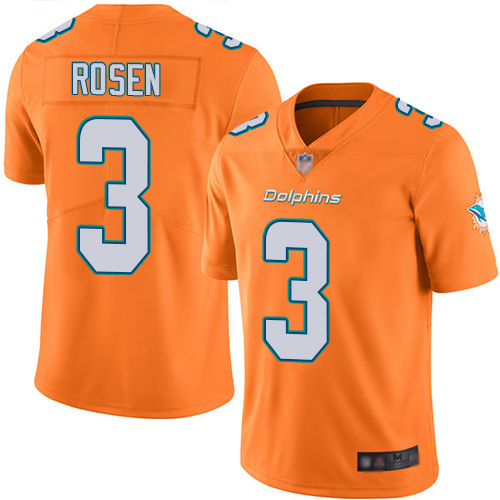 Dolphins #3 Josh Rosen Orange Youth Stitched Football Limited Rush Jersey