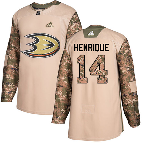 Ducks #14 Adam Henrique Camo Authentic 2017 Veterans Day Stitched Hockey Jersey