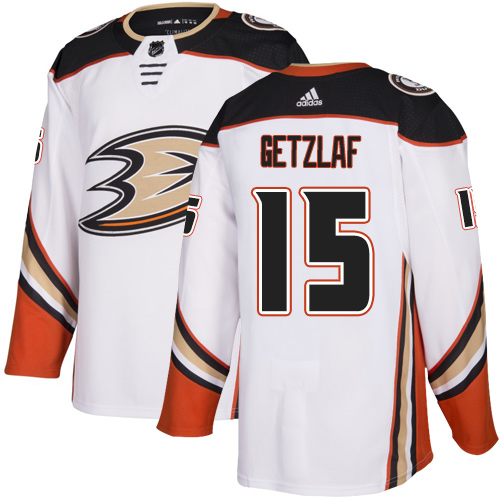Ducks #15 Ryan Getzlaf White Road Authentic Stitched Hockey Jersey