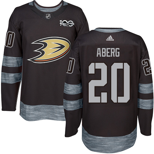 Ducks #20 Pontus Aberg Black 1917-2017 100th Anniversary Stitched Hockey Jersey