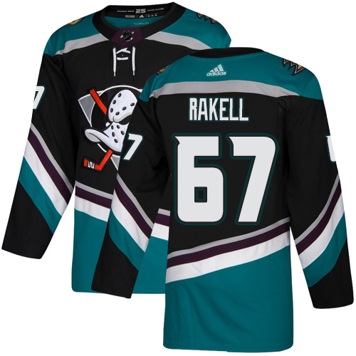 Ducks #67 Rickard Rakell Black Teal Alternate Authentic Stitched Hockey Jersey