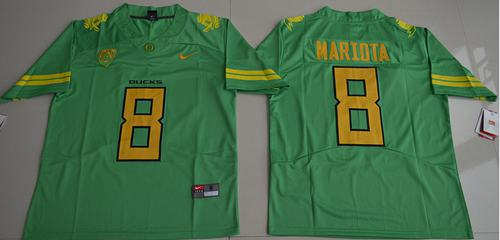 Ducks #8 Marcus Mariota Green Limited Stitched NCAA Jersey