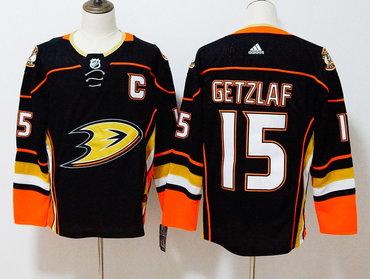 Ducks 15 Ryan Getzlaf Black Adidas Jersey