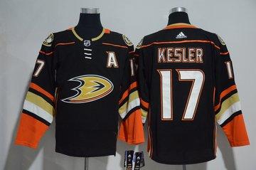 Ducks 17 Ryan Kesler Black Adidas Jersey