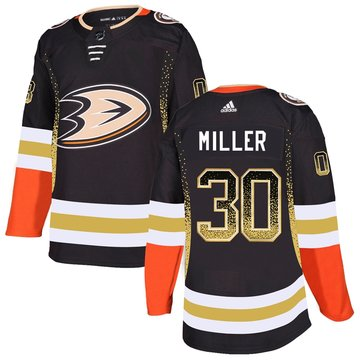Ducks 30 Ryan Miller Black Drift Fashion Adidas Jersey