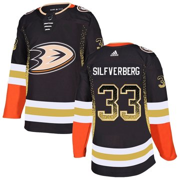 Ducks 33 Jakob Silfverberg Black Drift Fashion Adidas Jersey