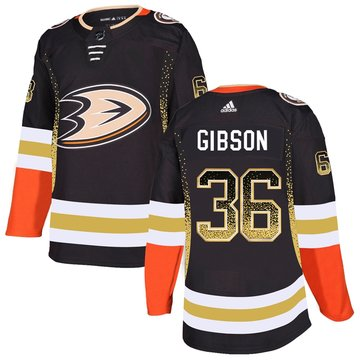 Ducks 36 John Gibson Black Drift Fashion Adidas Jersey