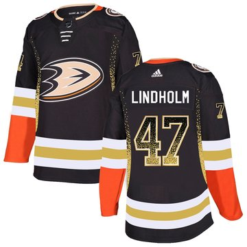 Ducks 47 Hampus Lindholm Black Drift Fashion Adidas Jersey