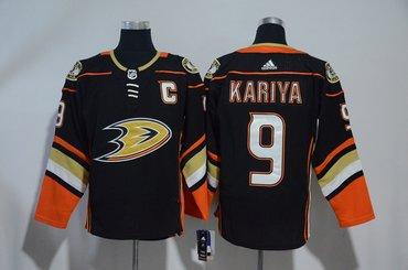 Ducks 9 Paul Kariya Black Adidas Jersey