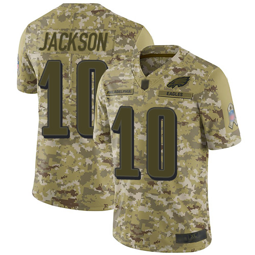 Eagles #10 DeSean Jackson Camo Men's Stitched Football Limited 2018 Salute To Service Jersey