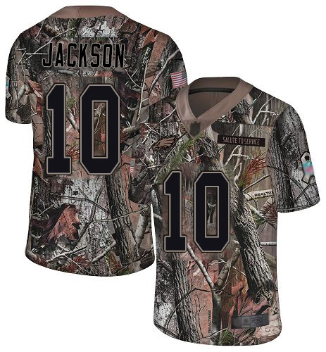 Eagles #10 DeSean Jackson Camo Men's Stitched Football Limited Rush Realtree Jersey